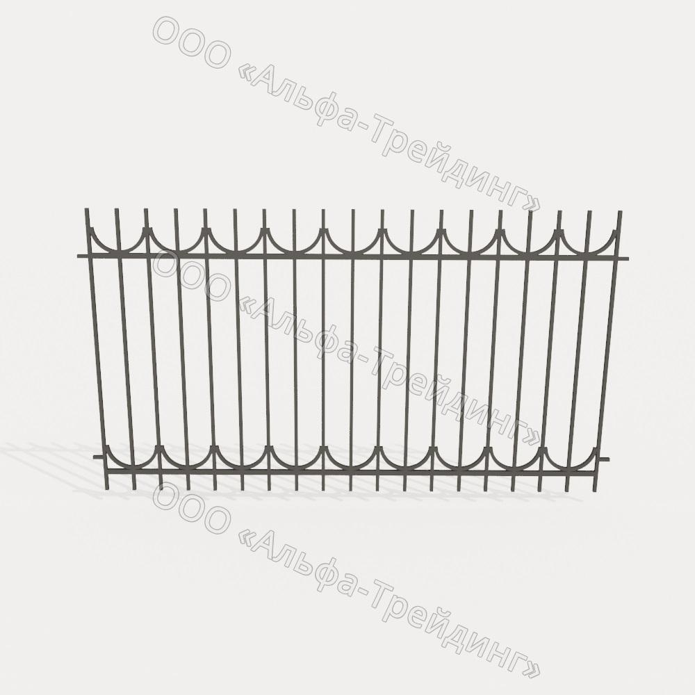 Забор из профильной трубы №11