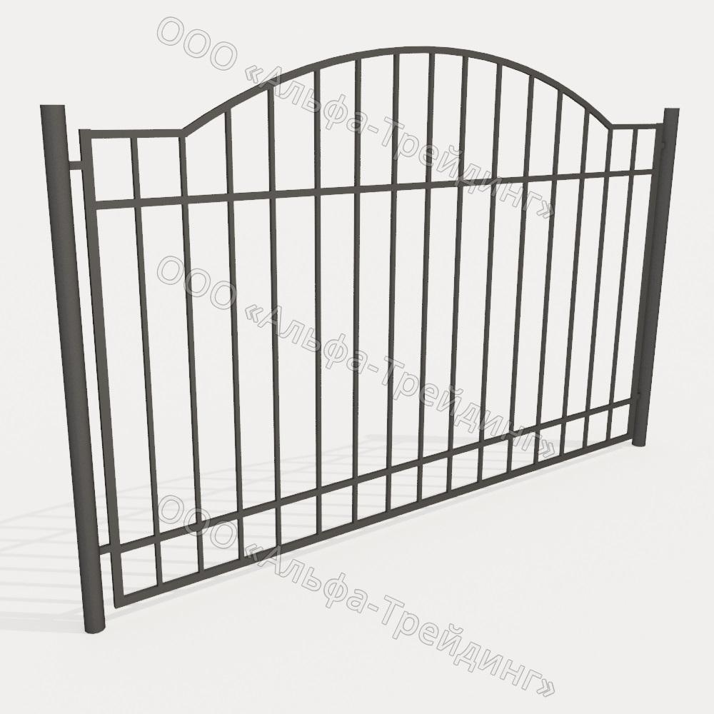 Забор из профильной трубы №12